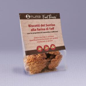 biscotti senza glutine con farina di teff, zafferano e camomilla