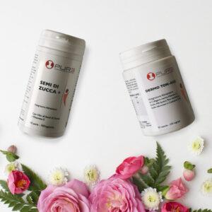 Pacchetto di integratori per rinforzare pelle e capelli con Semi di Zucca e Dermo Tonage