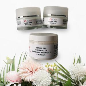 Pacchetto di cosmetici per una routine di skincare detox